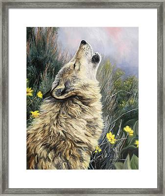 The Call Framed Print by Lucie Bilodeau
