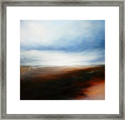 The Calling Shores Framed Print by Simon Kenny