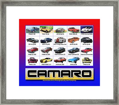 The Camaro Poster Framed Print by Jack Pumphrey