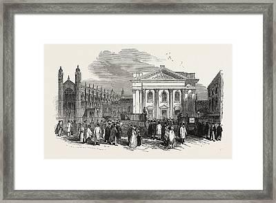 The Cambridge Chancellorship Election Exterior Framed Print by English School