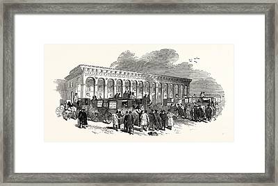 The Cambridge Chancellorship Election The Railway Station Framed Print by English School