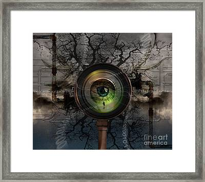 Digital Manipulation Framed Print featuring the photograph The Camera Eye by Keith Kapple