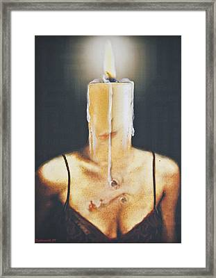 The Candle Flame Framed Print by Larry Butterworth