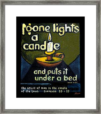 The Candle Framed Print by Patricia Howitt