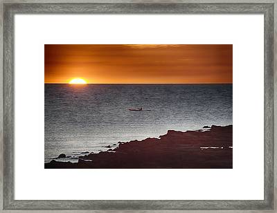 The Canoeist  Framed Print by Douglas Barnard