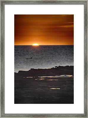 The Canoeist V2 Framed Print by Douglas Barnard