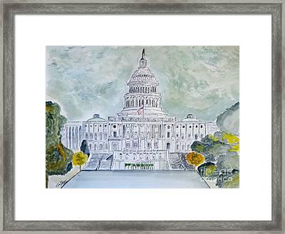 The Capitol Hill Framed Print by Eva Ason