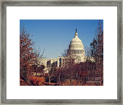 The Capitol In Winter Framed Print by Emily Kay