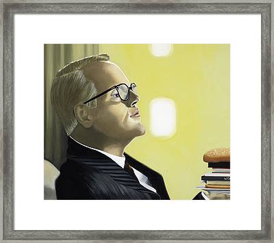 The Capote Burger Framed Print by Marcella Lassen