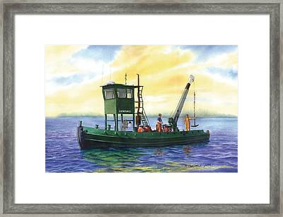 The Captain Charles Framed Print by Marguerite Chadwick-Juner