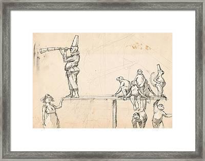 The Captain Framed Print by H James Hoff