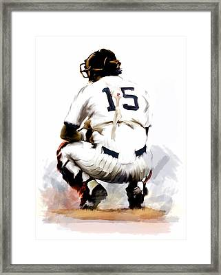 The Captain  Thurman Munson Framed Print by Iconic Images Art Gallery David Pucciarelli
