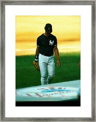 The Captains Farewell  Don Mattingly Framed Print by Iconic Images Art Gallery David Pucciarelli