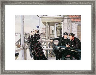 The Captains Daughter Framed Print by James Jacques Joseph Tissot