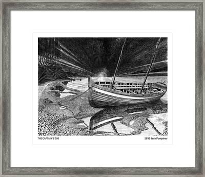 Captain Vancouvers Gig Framed Print by Jack Pumphrey
