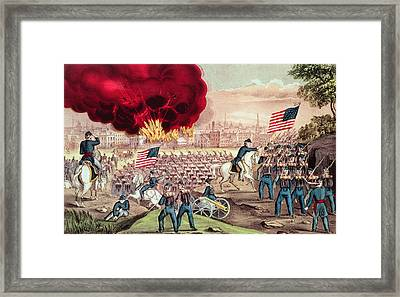 The Capture Of Atlanta By The Union Army Framed Print by Currier and Ives