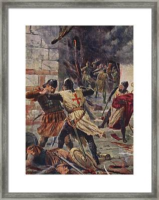 The Capture Of Constantinople Framed Print by John Harris Valda