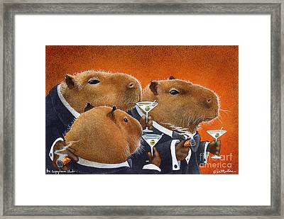 The Capybara Club... Framed Print by Will Bullas