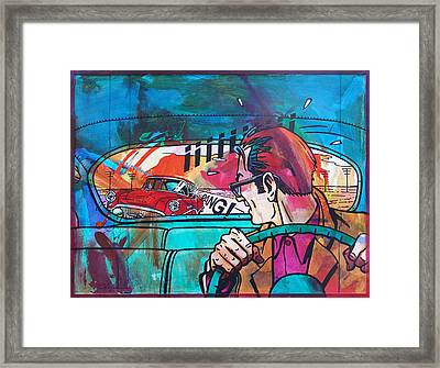 The Car Chase Framed Print by Frans Mandigers