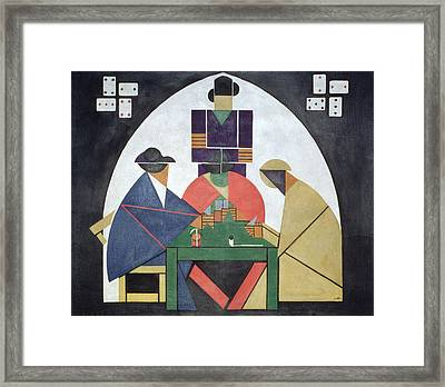 The Card Players, 191617 Framed Print by Theo van Doesburg