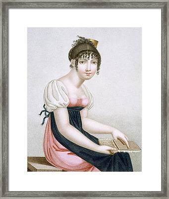 The Carder, Engraved By Augrand, C.1816 Framed Print by Madame G. Busset-Dubruste