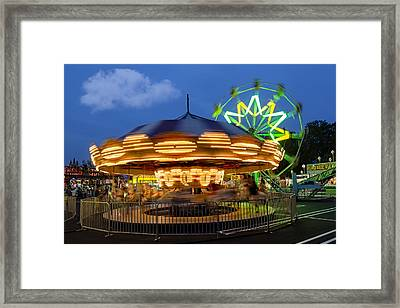The Carnival Is In Town Framed Print by Susan Candelario