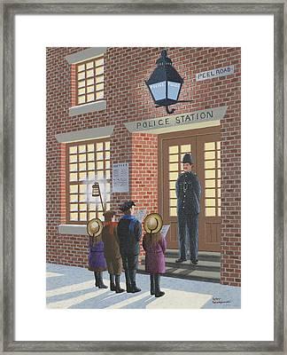 The Carolers Framed Print by Peter Szumowski