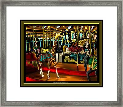 The Carousel At Coolidge Park Three - Chattanooga Landmark Series - # 8 Framed Print by Steven Lebron Langston