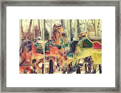 The Carousel Framed Print by Carrie Ann Grippo-Pike