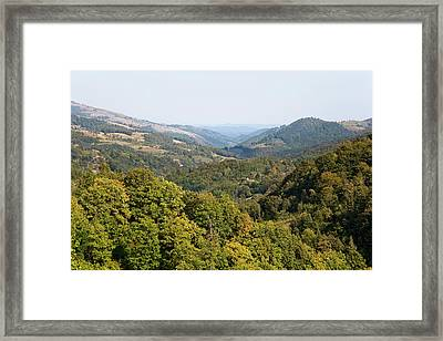 The Carpathian Mountains West Of Baia Framed Print by Martin Zwick
