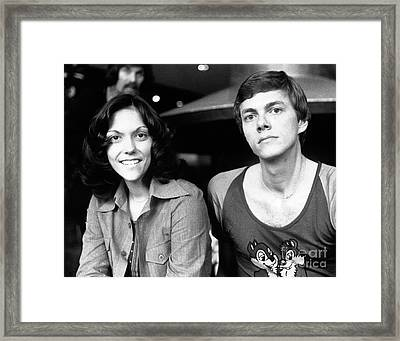 The Carpenters 1972 Framed Print by Chris Walter