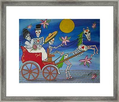 The Carriage Ride Day Of The Dead Framed Print by Julie Ellison
