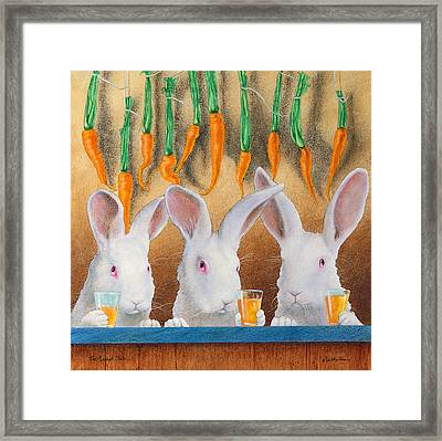 The Carrot Club... Framed Print by Will Bullas