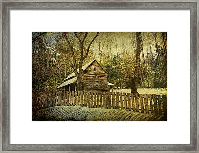 The Carter Shields Cabin In Cades Cove In The Smokey Mountains Framed Print by Randall Nyhof