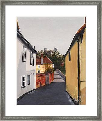 The Castle Keep Framed Print by Shirley Miller