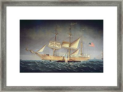 The Catalpa With Whale Oil On Canvas Framed Print by American School