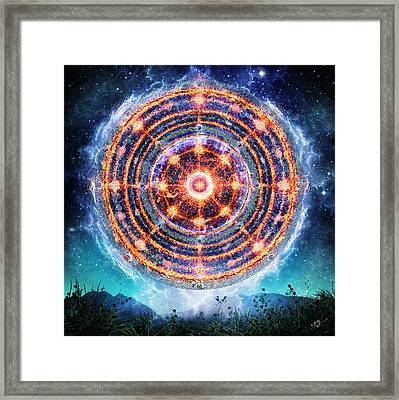 The Catalyst Fire Framed Print by Cameron Gray