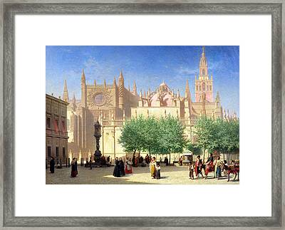 The Cathedral Of Seville Framed Print by Achille Zo