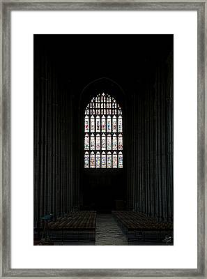 The Cathedral Sits Empty Framed Print by Lisa Knechtel