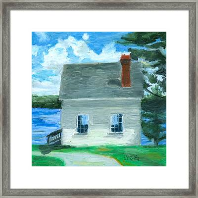 The Caulker's Shed Framed Print by Dominic White