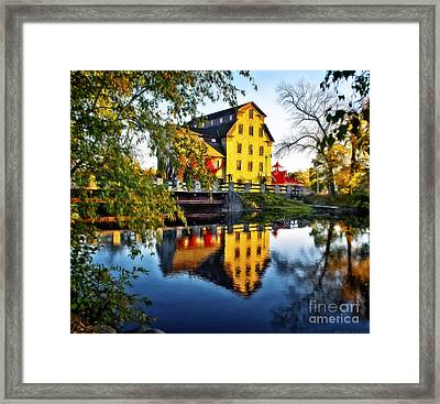 The Cedarburg Mill - Digital Oil Framed Print by Mary Machare