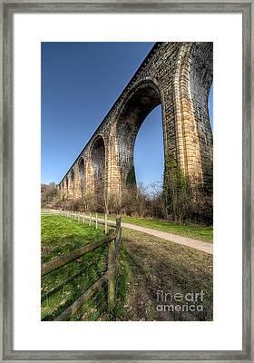 The Cefn Mawr Viaduct Framed Print by Adrian Evans