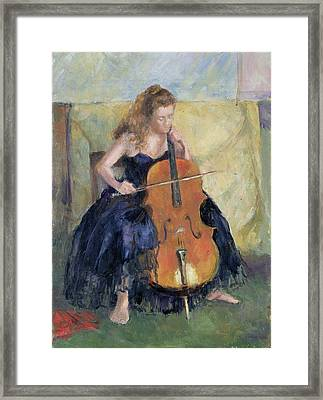 The Cello Player, 1995 Framed Print by Karen Armitage