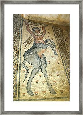The Centaur Mosaic Framed Print by Photostock-israel