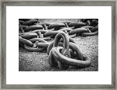 The Chain Framed Print by Erik Brede