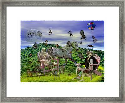 The Chairs Of Oz Framed Print by Betsy C Knapp
