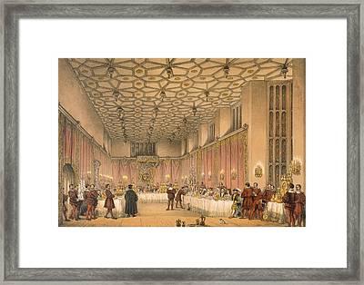 The Chamber, Hampton Court Framed Print by Joseph Nash