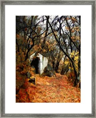 The Chapel In The Rock - Holy Hill Mikulov Framed Print by Menega Sabidussi