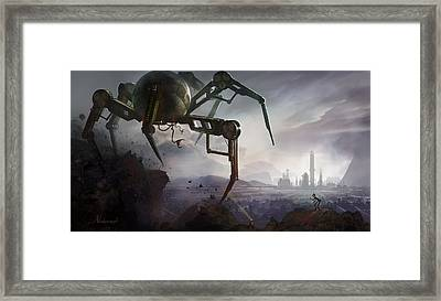 The Chase Framed Print by Kristina Vardazaryan