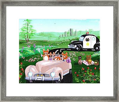 The Chase Framed Print by Lisa  Adams